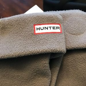 Tall grey hunter boot socks